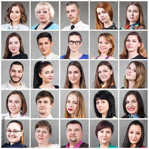 Plakat Grupa różnych uśmiechniętych ludzi