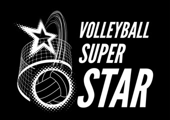 FototapetaVolleyball super star design