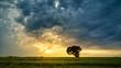 Timelapse Video zeigt dramatischen Sonnenuntergang am Land