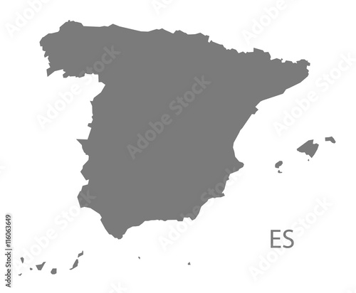 Spain Map grey Fototapet