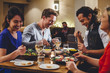 canvas print picture - Double Date Dining