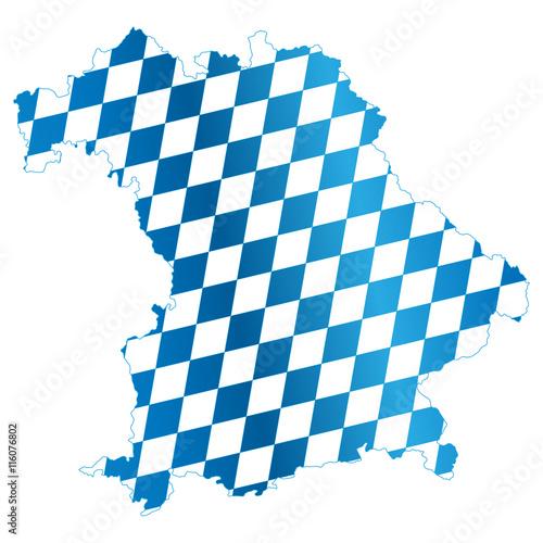 Bundesland Bayern Landkarte Mit Rauten Kaufen Sie Diese