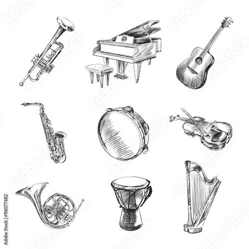 Fotomural Musical instruments set