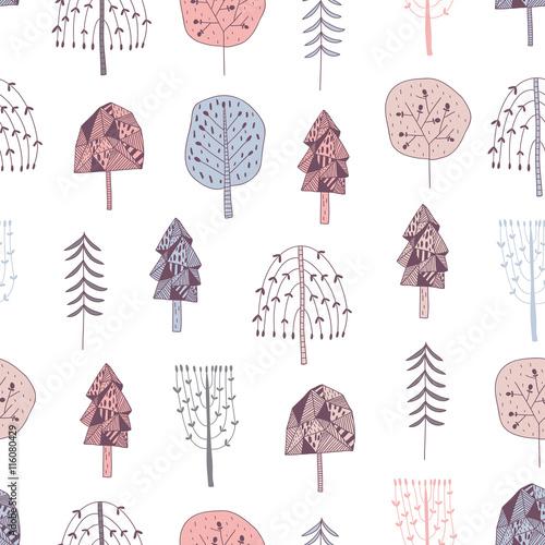 wektor-wzor-z-recznie-rysowane-drzewa