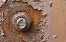 Rusty Nut Closeup