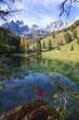 canvas print picture - Der Almsee im Hochformat 2