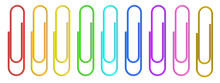 Colored Paper Clips Closeup, 3D Rendering