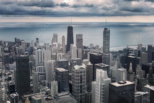 Foto op Plexiglas Chicago Chicago cityscape view