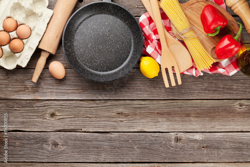 Poster Cuisine Cooking utensils and ingredients