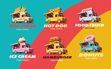 Set Illustrations Food Truck