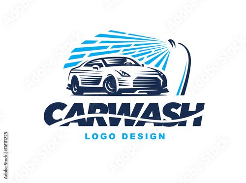 Logo Car Wash On Light Background Buy This Stock Vector And