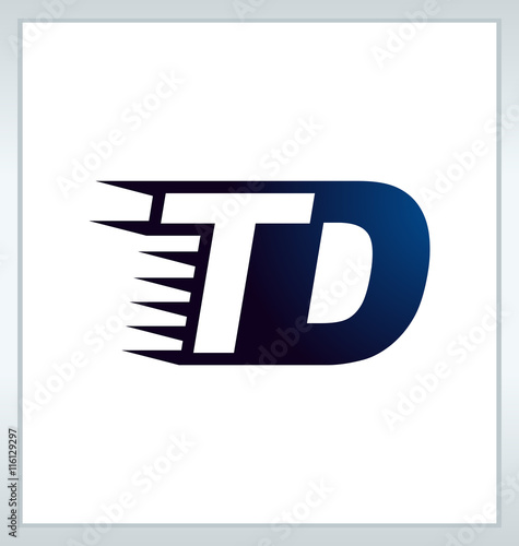 Td Two Letter Composition For Initial Logo Or Signature Buy This