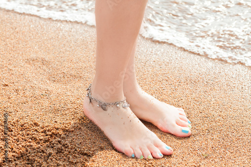 legs of a young girl and anklet ankle Wallpaper Mural