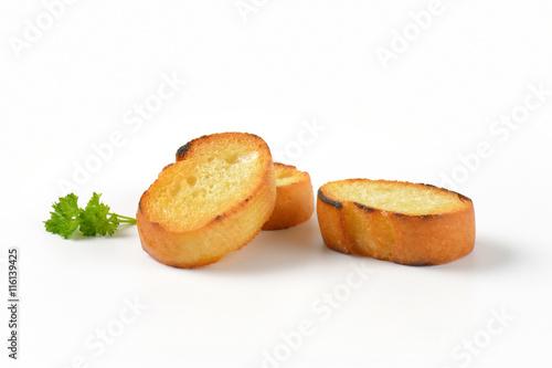 Fotografía  pan fried French bread slices