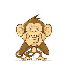 Monkey Closing His Mouth