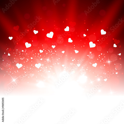 Red Valentine S Day Romantic Vector Background With Hearts Buy