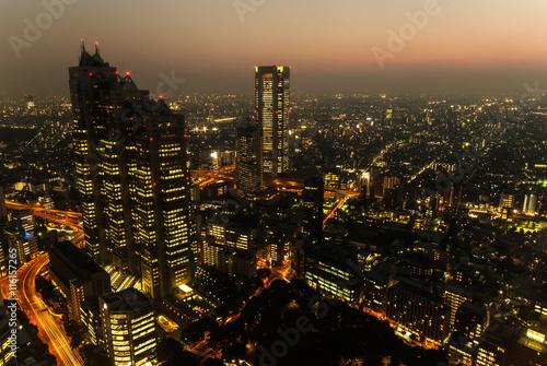 fototapeta na szkło Tokyo Skyline at Dusk