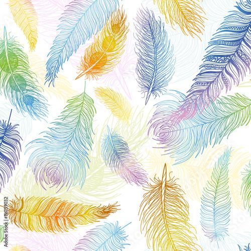 bezszwowy-wzor-recznie-rysowane-ptak-pior-zblizenie-na-bialym-tle-zestaw-styl