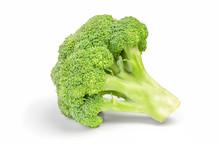 Fresh Broccoli Cabbage Isolated On White Background