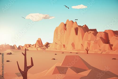 Fotografie, Obraz  Colored Desert landscape