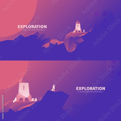 Exploration of other planets landscape