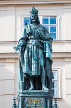 Statue Of Charles IV In Prague, Czcech Republic
