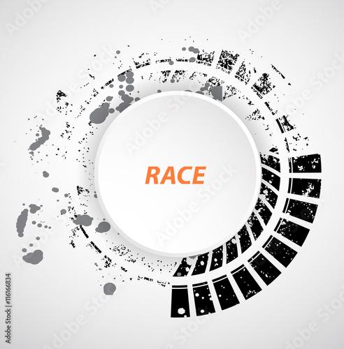 In de dag Art Studio Racing tire background, vector illustration abstraction border or header