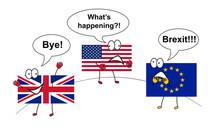 Brexit. UK Leaving EU. Comic I...