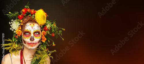 Fotografie, Obraz  Фейс арт к Хеллоуину.