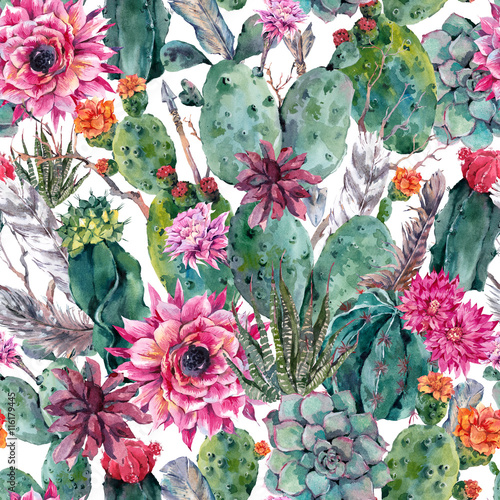 kaktus-akwarela-wzor-w-stylu-boho