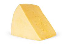 Piece Of Cheese Isolated On A ...