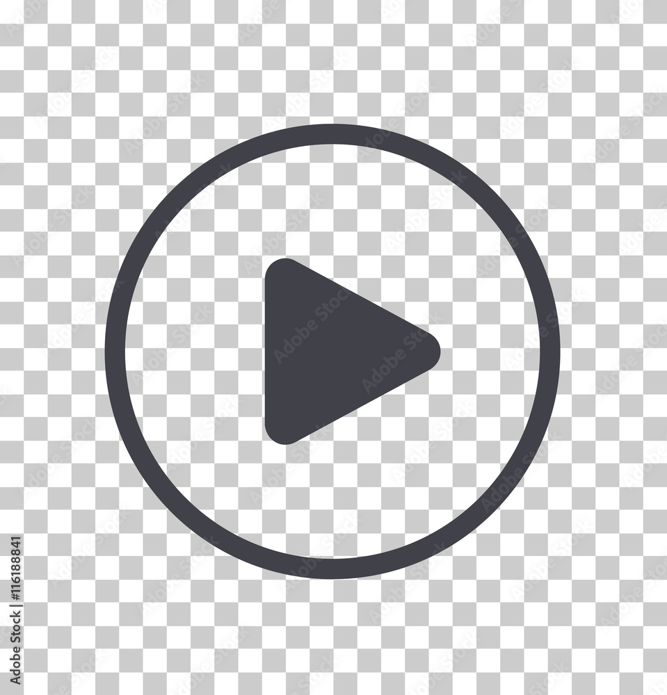 Fototapety, obrazy: Play button icon, Vector