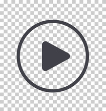 Play Button Icon, Vector