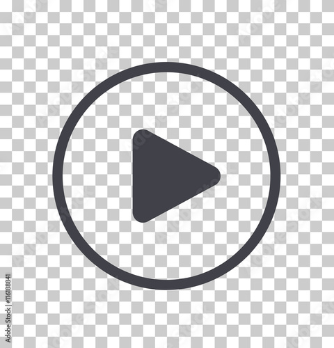 Play button icon, Vector Slika na platnu