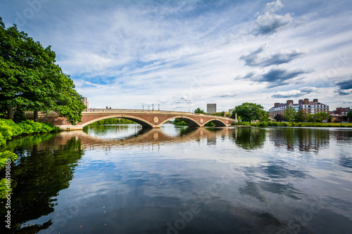 Fotografie, Obraz  The John W Weeks Bridge and Charles River in Cambridge, Massachu