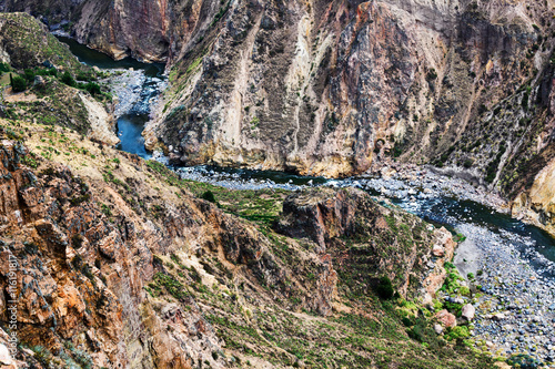 Foto auf Gartenposter Fluss mountain river in a canyon