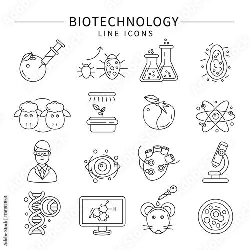 Fotografía  Biotechnology Icon Set