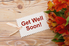 Get Well Soon Gift Tag With Fl...