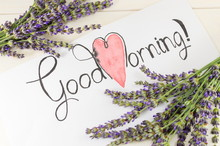Good Morning Card With Lavende...
