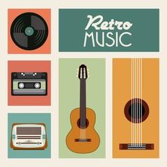 Fototapeta Vintage k icon. Retro and Music design. Vector graphic