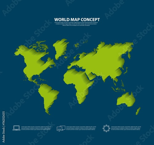 Garden Poster World Map Earth icon. World and Map design. Vector graphic