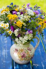 Obraz na SzkleBlumenstrauß in einer Vase