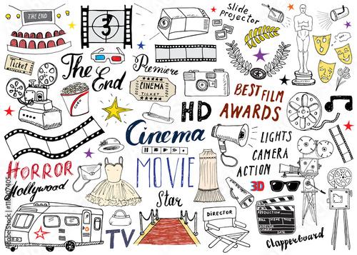 Photo  Cinema and Film Industry Set