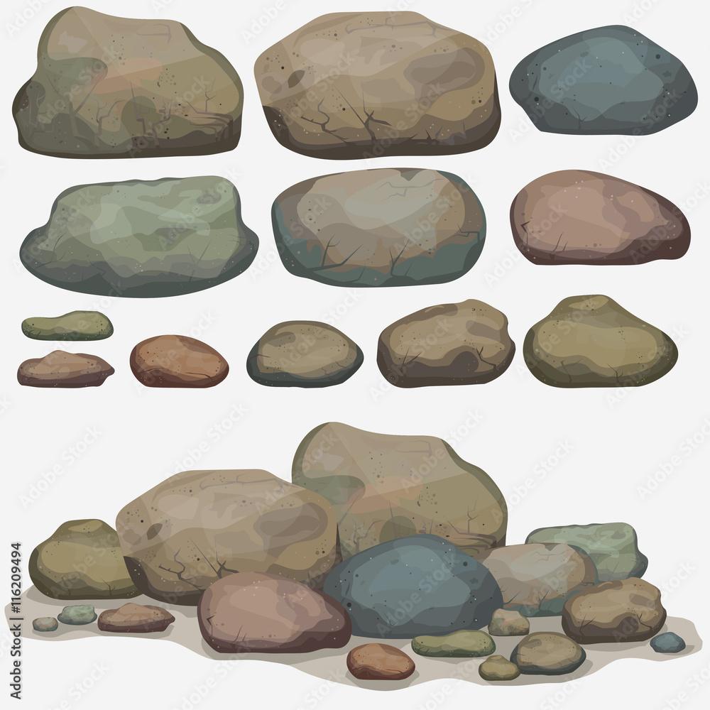Fototapety, obrazy: Rock stone set