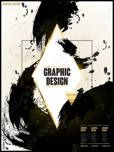 elegant brochure template Canvas Print