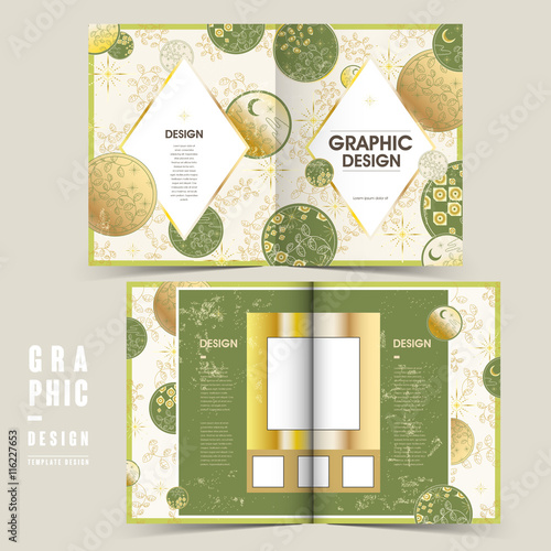 Photo  delicate bi-fold brochure