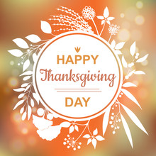 Happy Thanksgiving Card Design