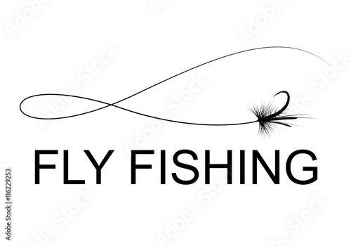 Fotografie, Tablou fly fishing hook, vector