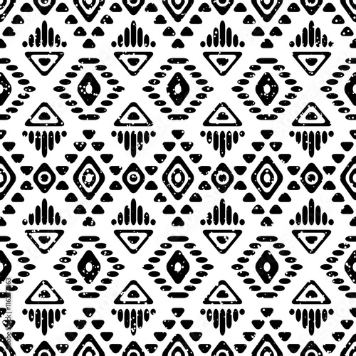 Foto auf AluDibond Boho-Stil Seamless aztec pattern