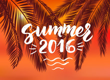 Summer 2016 Card With Hand Drawn Brush Lettering